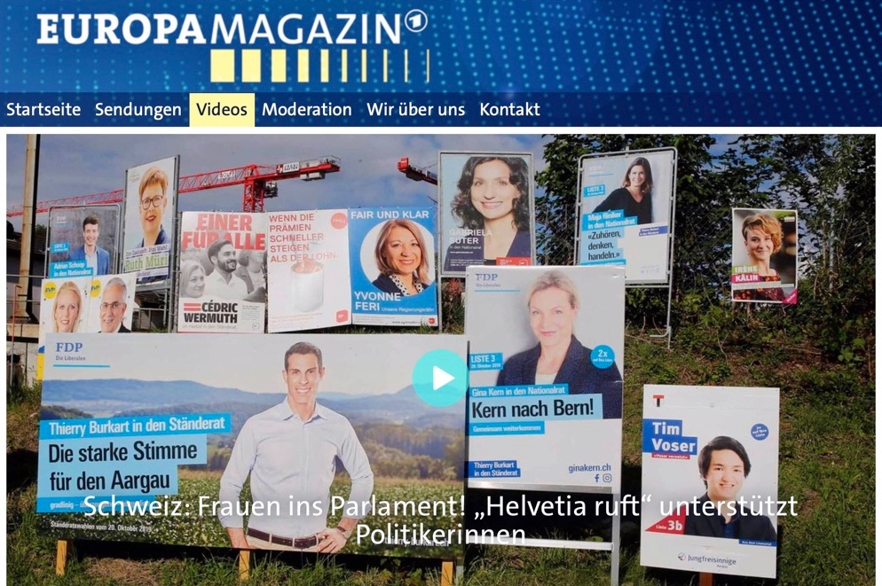 Link to TV report on coaching for women in Swiss politics